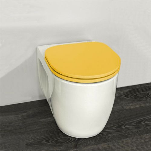 H&L Junior Series Childrens Toilet with Yellow Seat
